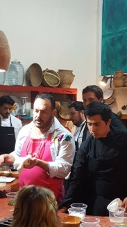 Ricardo and young Chefs, Taller Acuyo, Xalapa